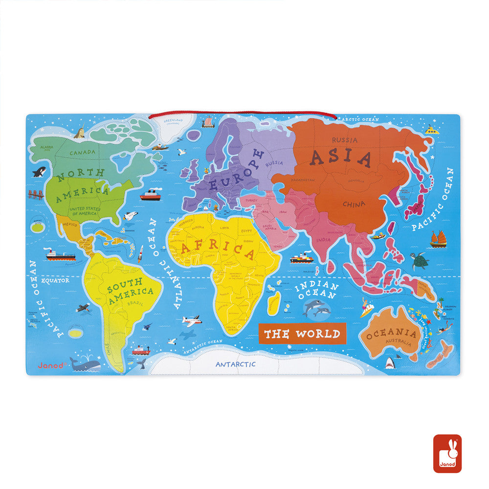 Janod, Magnetic World Puzzle