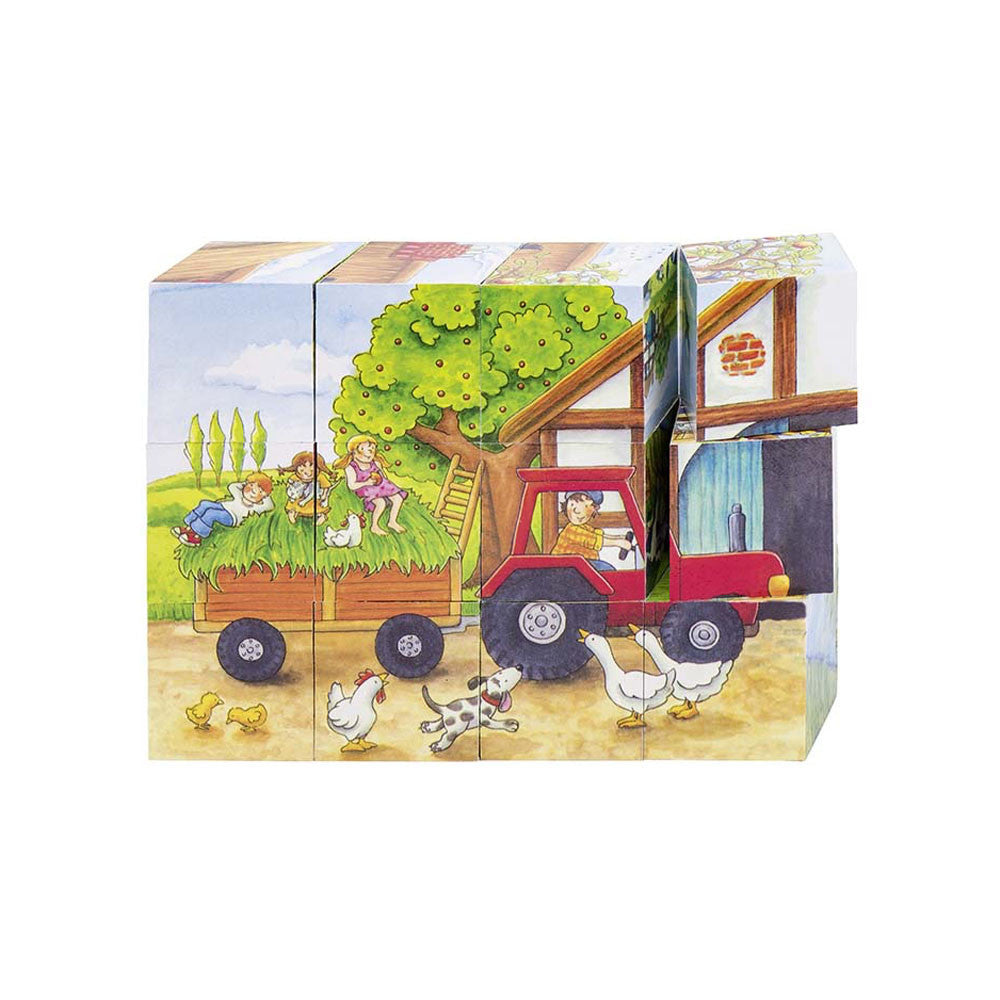 Goki, Seasons on the Farm Cube Puzzle