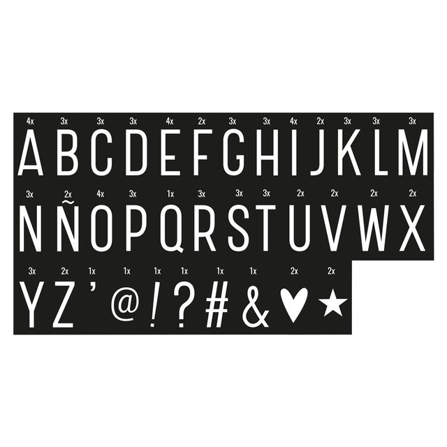 LIGHTBOX LETTER SET: MONOCHROME