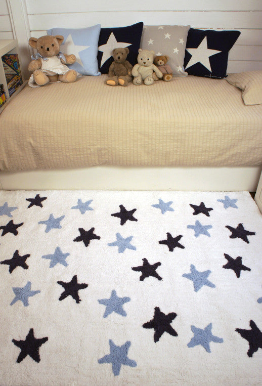 Washable Rug - Messy Stars