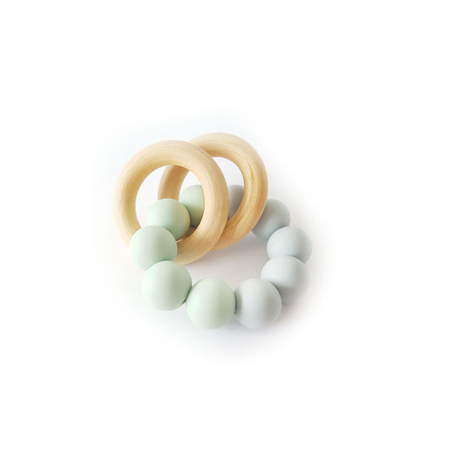 Chewies&More, Basic Rattle - Grey / Green