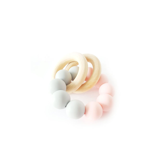 Chewies&more, Basic Rattle - Grey / Rose