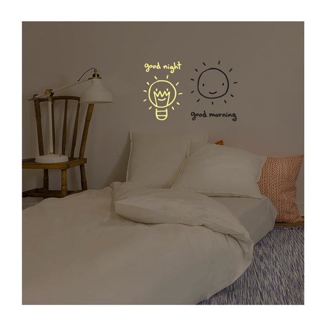 Chispum, Good morning/ Good night Wall Sticker