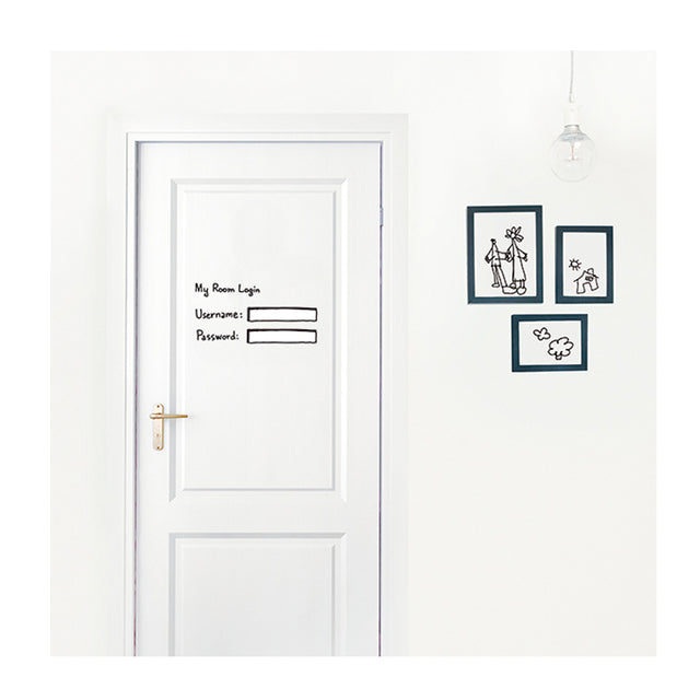 Chispum, My Room Login Wall Sticker
