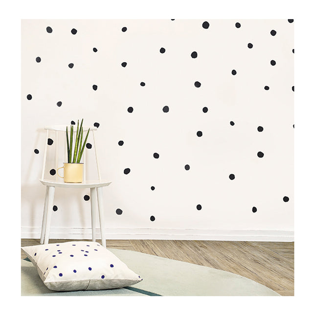 Chispum, Polka Dots Black Wall Sticker