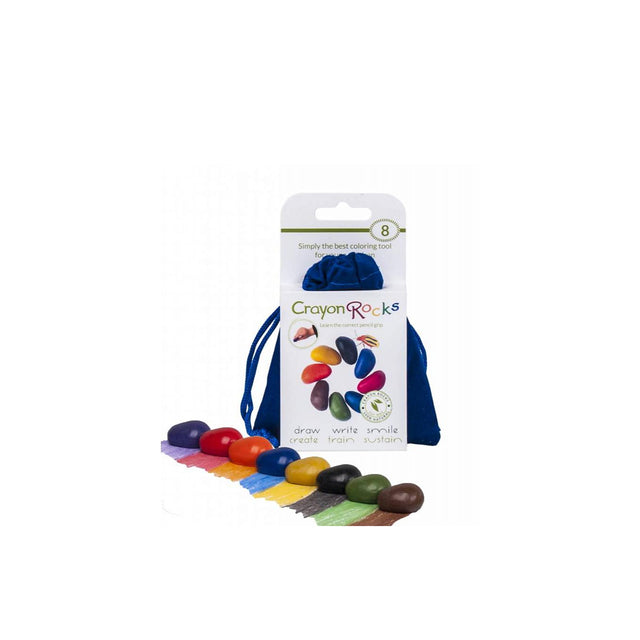 Crayon Rocks, Soy Wax Crayons Blue Bag