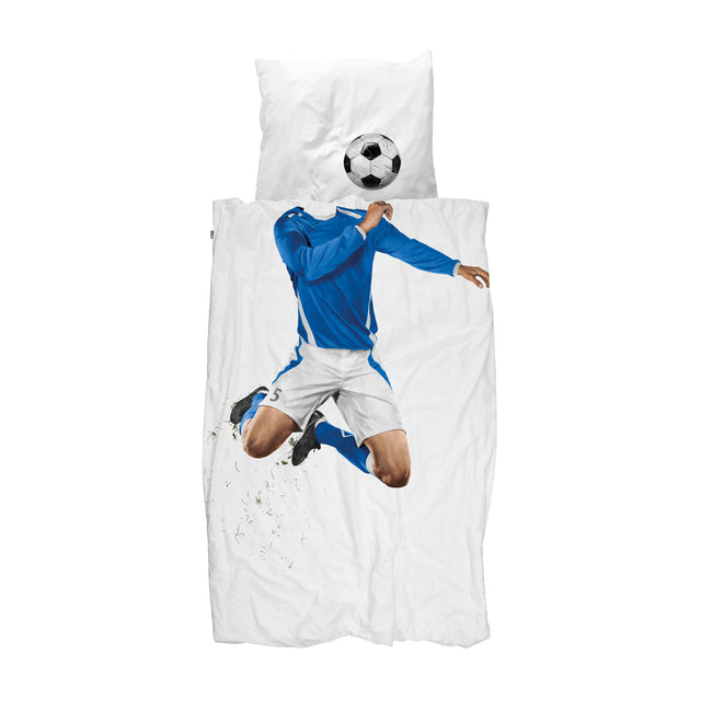 Snurk - Kids Duvet Cover Set - Football Champ - Blue