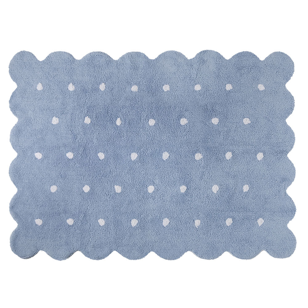 Washable Rug - Biscuit - Blue