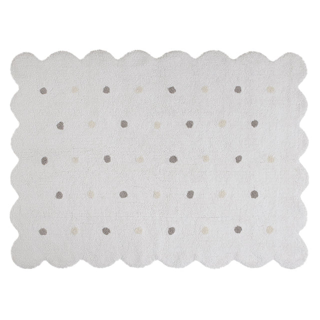 Washable Rug - Biscuit - White