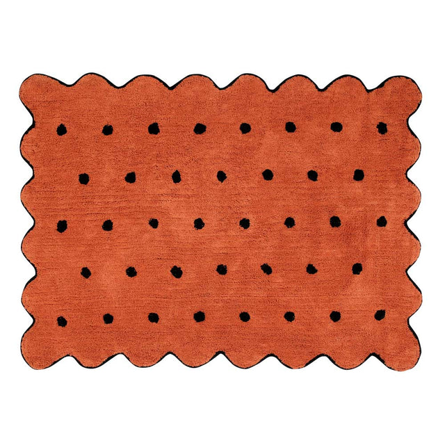 Washable Rug - Biscuit - Terracotta