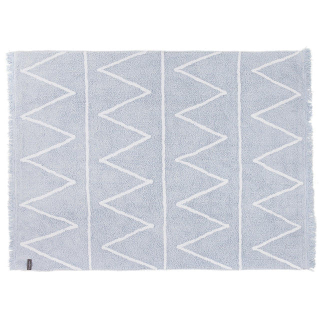 Washable Rug - Hippy - Soft Blue