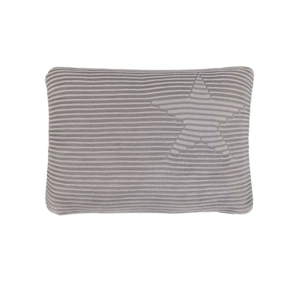 Cushion - Hippy Star - Pearl Grey