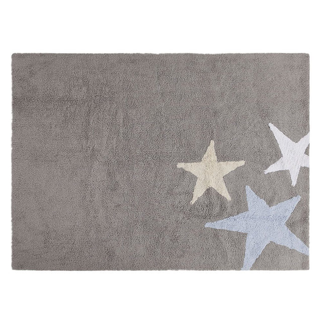 Washable Rug - Tres Estrellas - Grey/Blue - 120x160cm