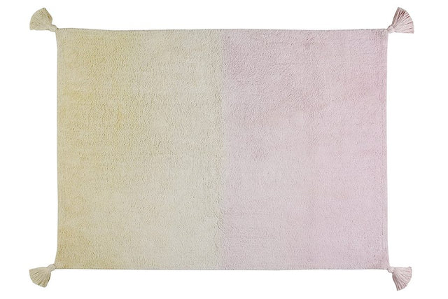 Washable Rug - Degrade Ombre - Vanilla/Soft Pink