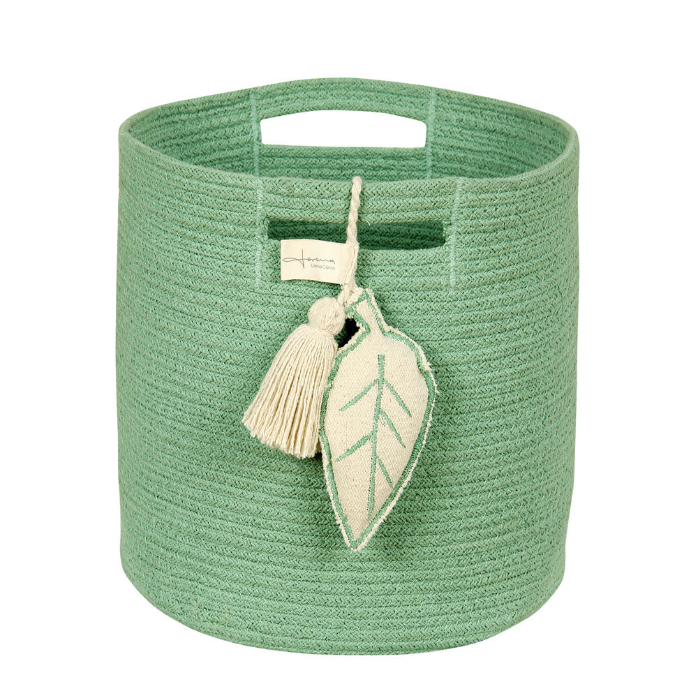 Washable Basket - Leaf - Green