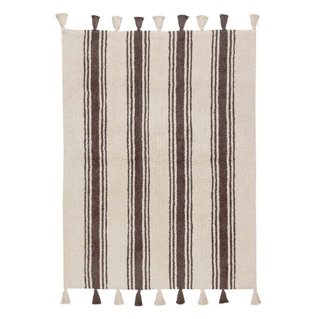 Washable Rug - Stripes - Elephant Grey - 120x160cm