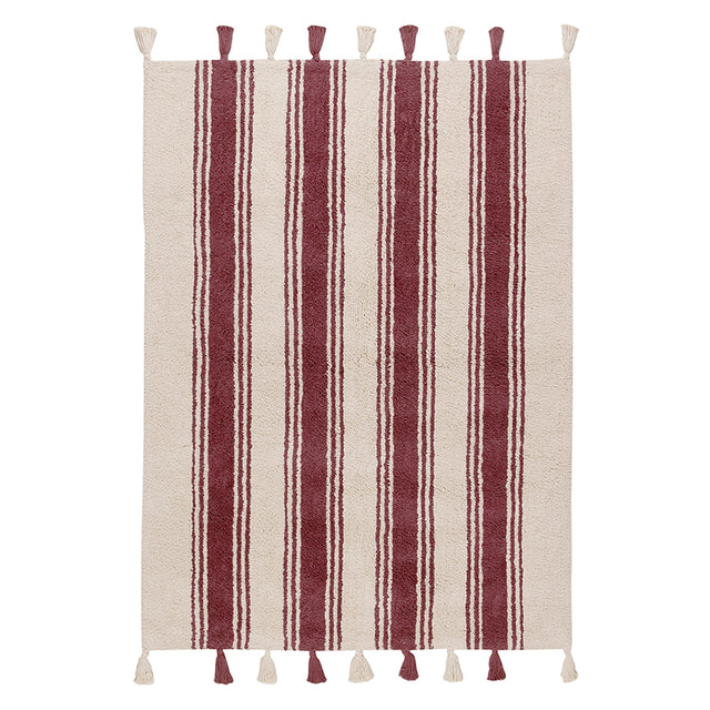 Washable Rug - Stripes - Marsala - 120x160cm