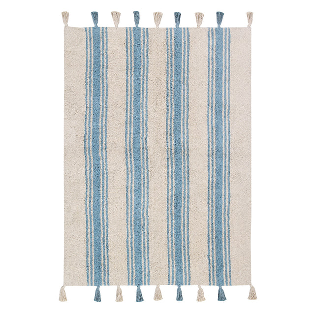Washable Rug - Stripes - Nile Blue