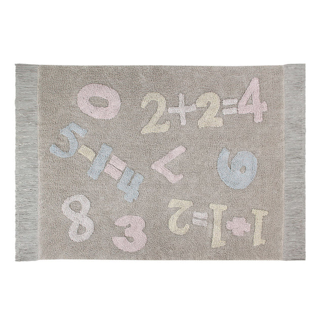 Lorena Canals - Back to School - Washable Rug - Baby Numbers - 120x160cm