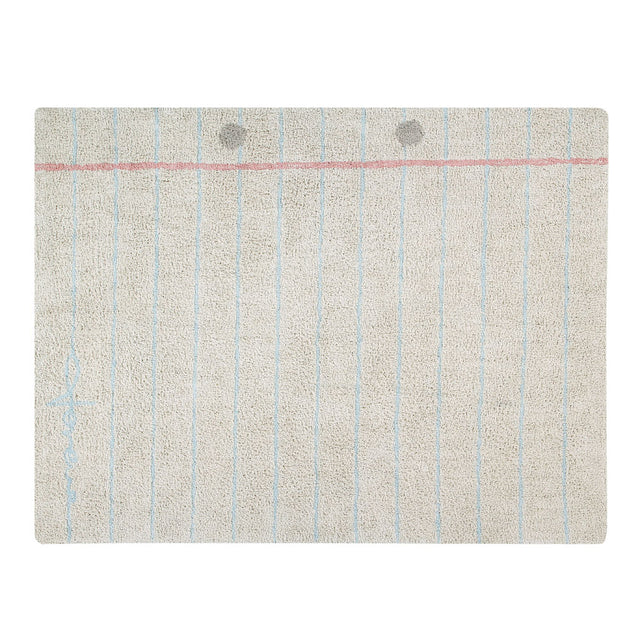 Lorena Canals - Washable Rug- Back to school - Notebook - 120x160cm