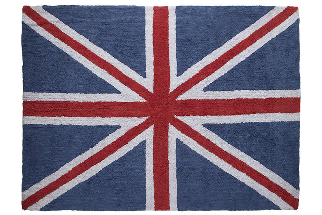 Washable Rug - Flag of England - Red Blue