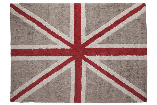 Washable Rug - Flag of England - Linen Red