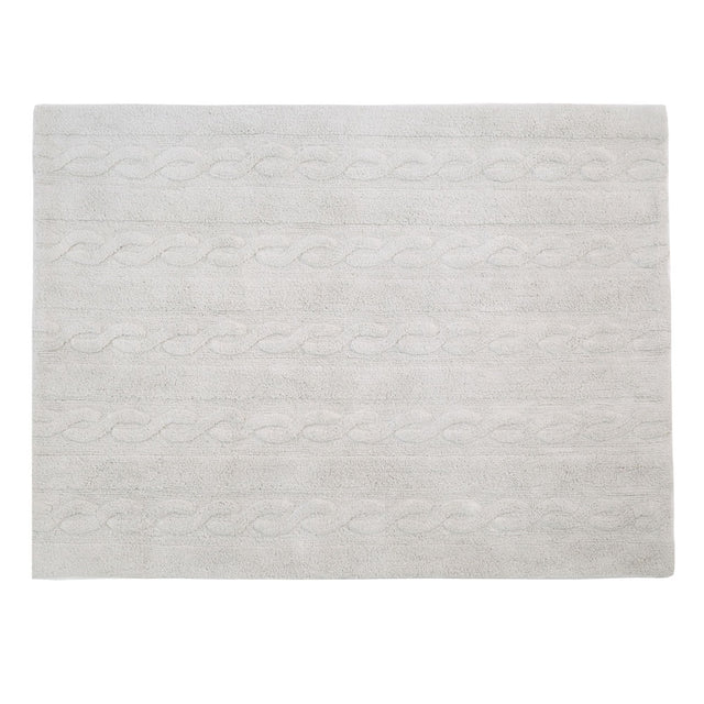 Washable Rug - Trenzas - Pearl Grey - 2 sizes