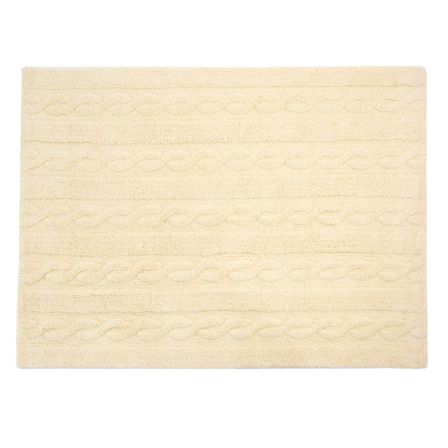 Washable Rug - Trenzas - Vanilla - 2 sizes