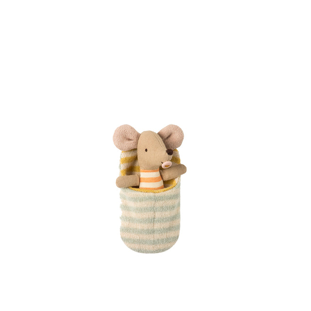 Maileg - Baby Mouse in Sleeping Bag - 9 cm