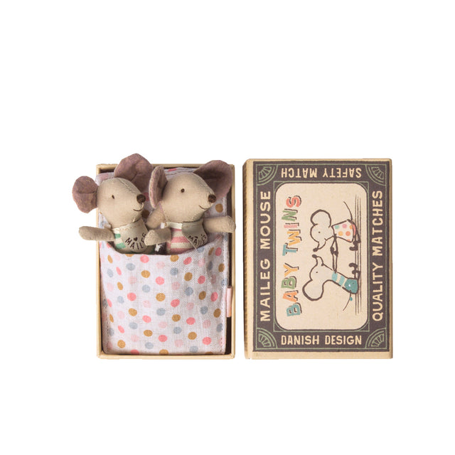 Maileg, Baby Twins Mice in matchbox
