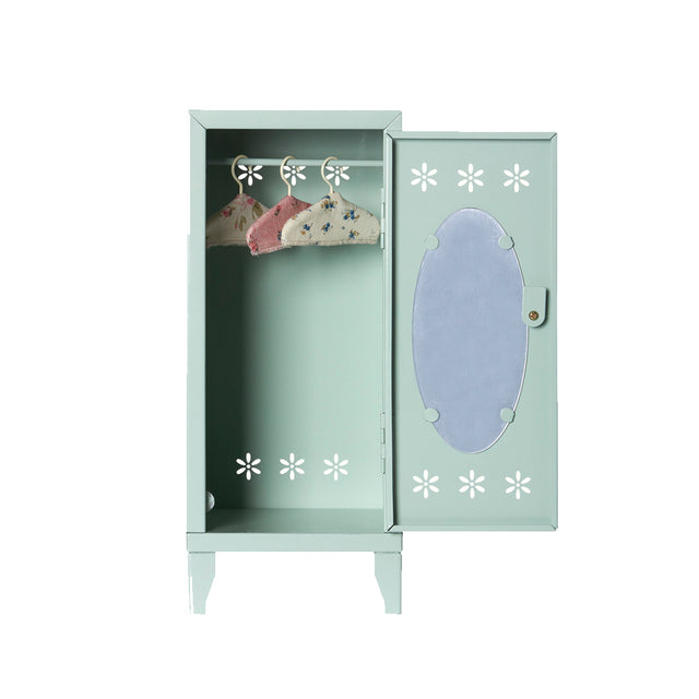 Maileg, Locker with 3 hangers - Green