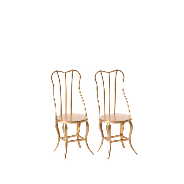 Vintage Chair, Micro Gold, 2 pack - 10 cm