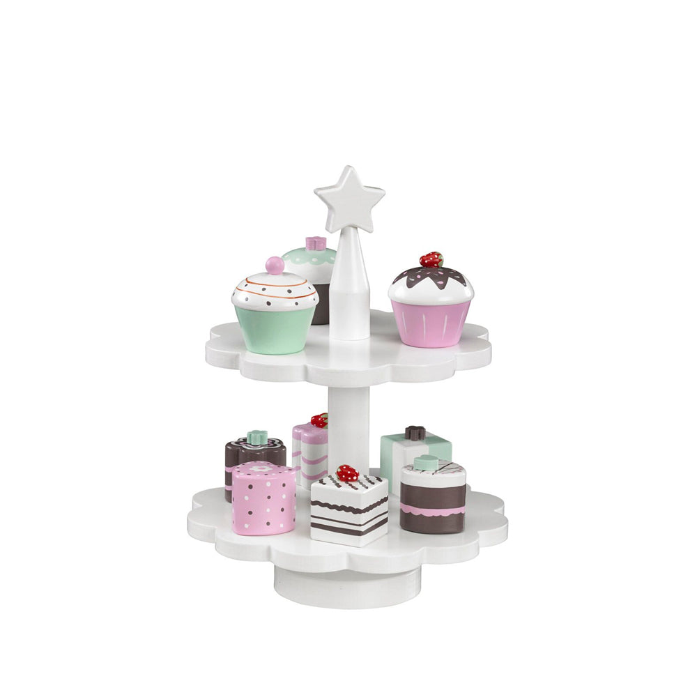 TOY CAKE-STAND (inc. 9 cupcakes/cakes)