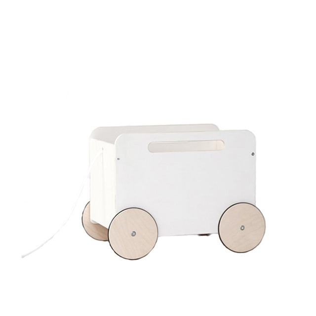 Toy Chest on Wheels - White