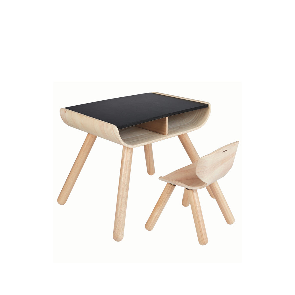 Plan Toys, Wooden Table & Chair