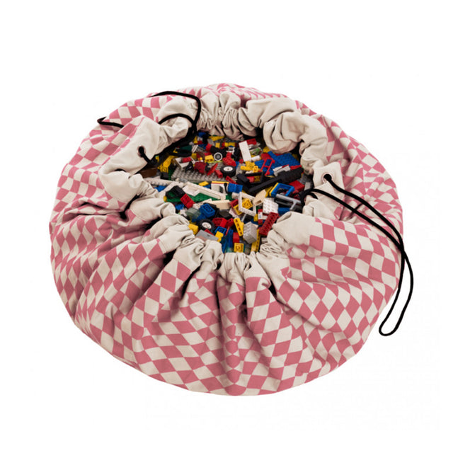 Play&Go - Toy Storage Bag - Pink Diamonds