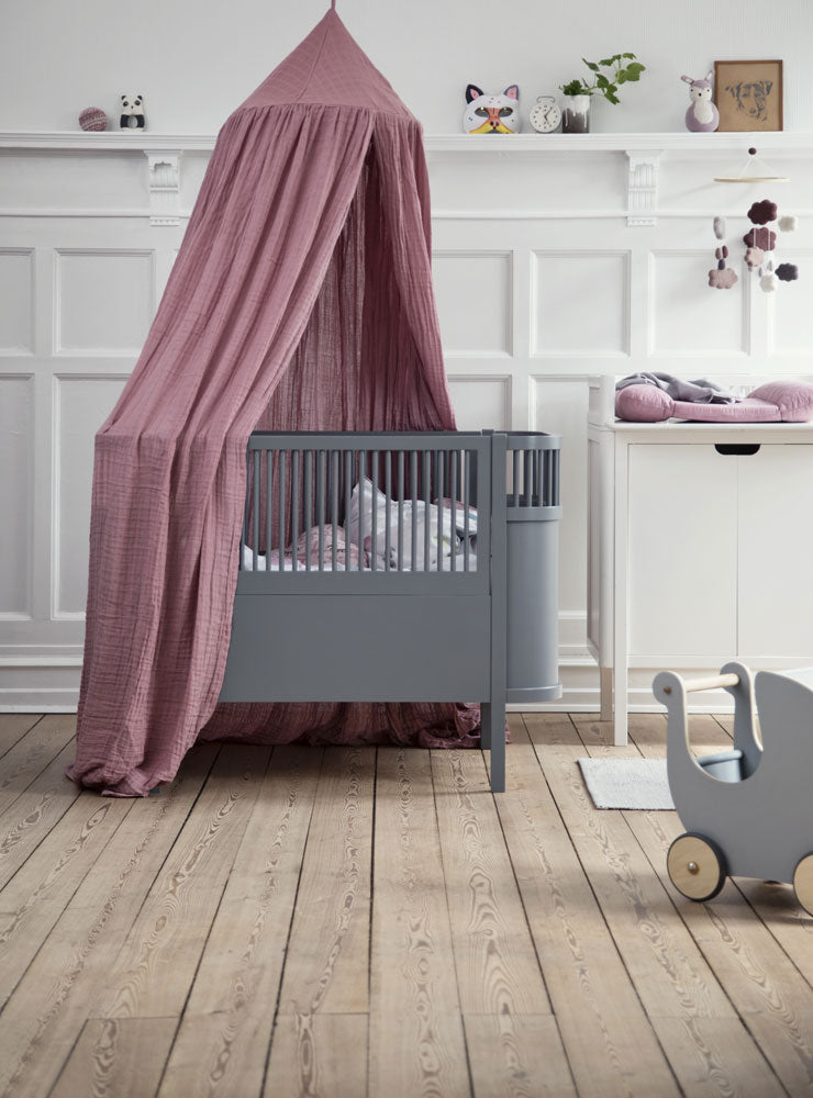 d51c4d52d44 Sebra Online | Fitted sheet for baby cot | Dusty Rose | 70 x 120 cm ...
