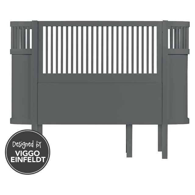 Sebra - The Sebra Bed - Baby & Junior Bed - Dark Grey