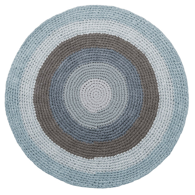 Sebra - Crochet floor mat - Cloud Blue - 120cm