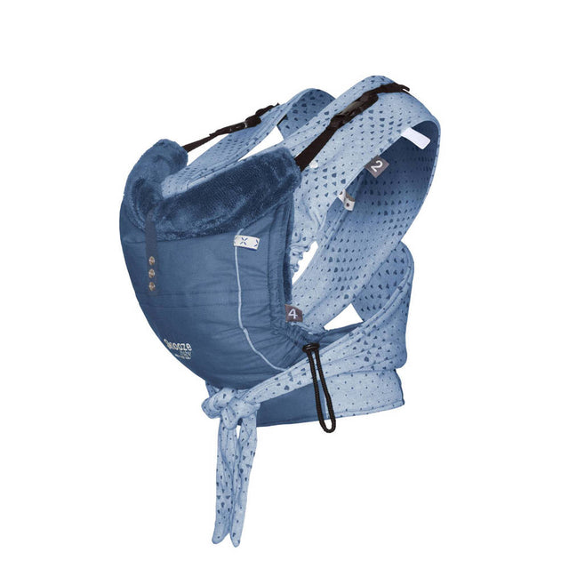 Snooze Baby - Baby Carrier - Kiss and Carry - Indigo Blue