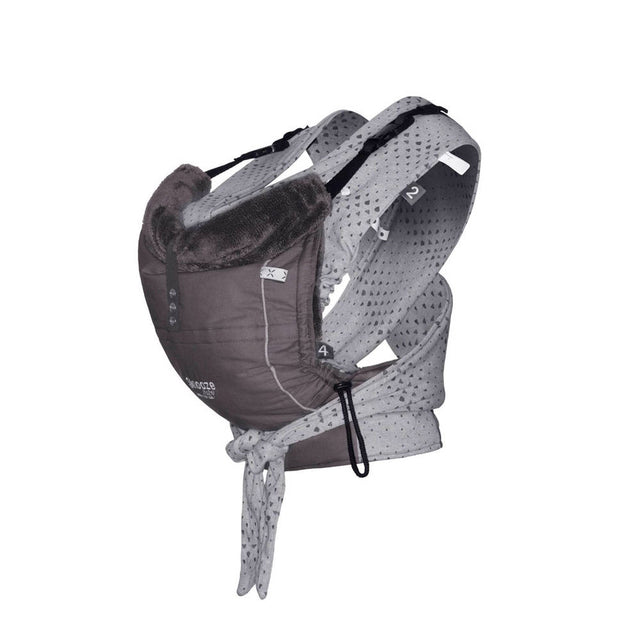 Snooze Baby - Baby Carrier - Kiss and Carry - Storm Grey