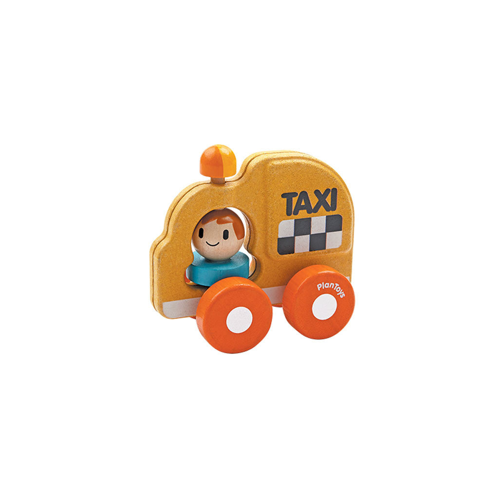Plan Toys, Wooden Taxi