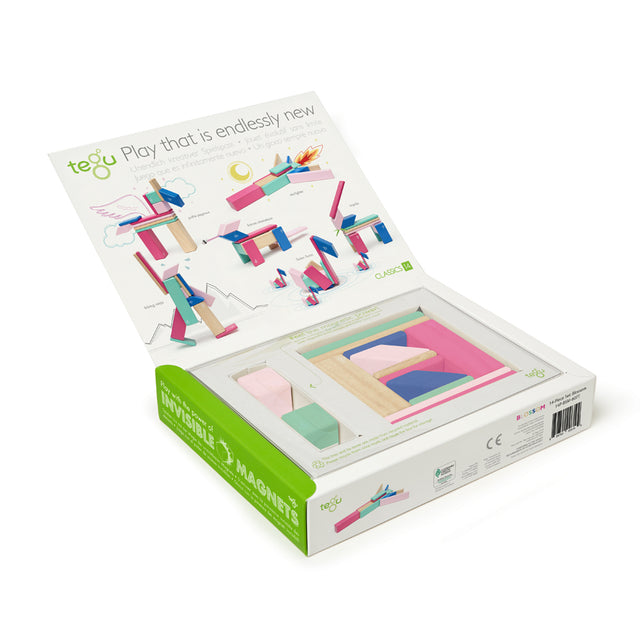 Tegu - Magnetic Blocks - Blossom - 14 pieces