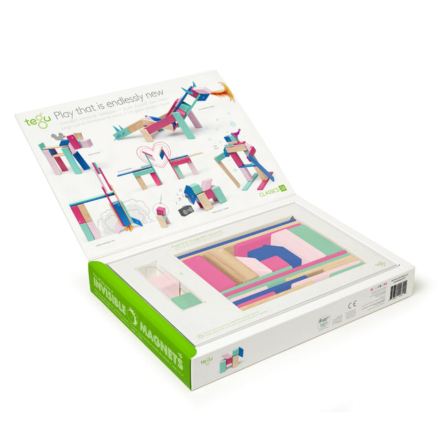 Tegu - Magnetic Blocks - Blossom - 24 pieces