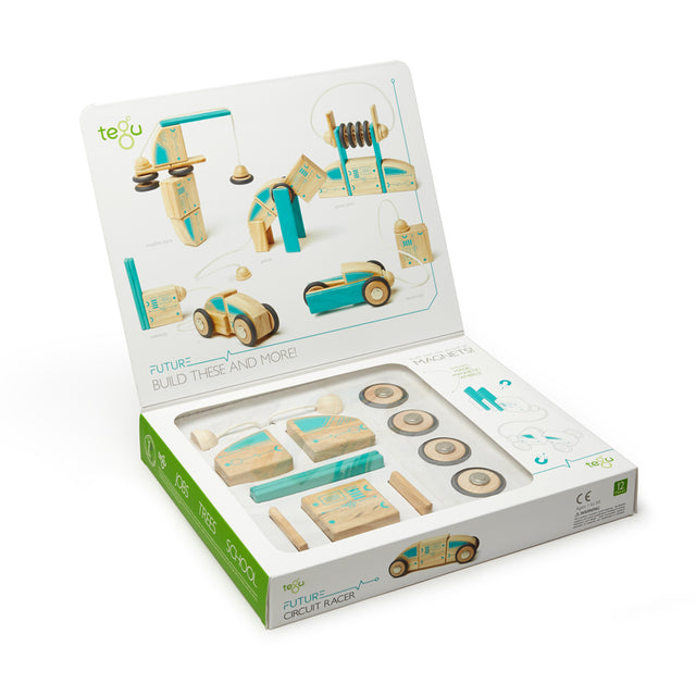 Tegu - Magnetic Blocks - Circuit Racer - 12 pieces