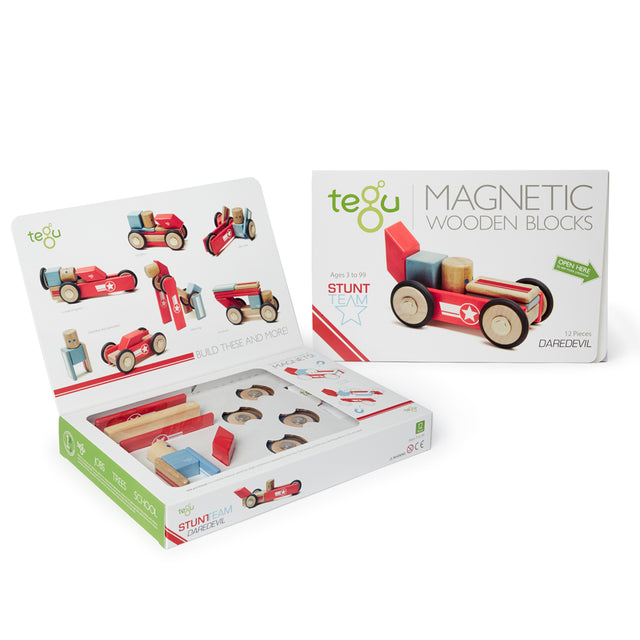 Tegu - Magnetic Blocks - Daredevil - 12 pieces
