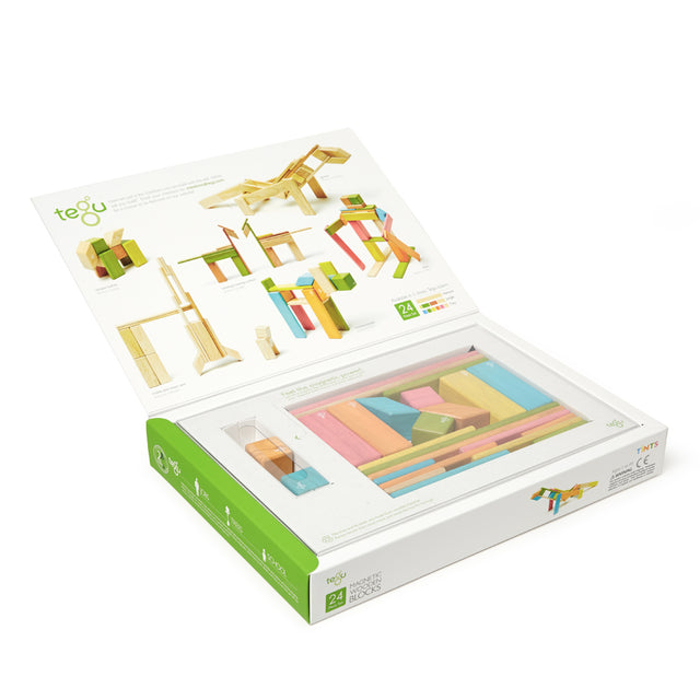 Tegu - Magnetic Blocks - Tints - 24 pieces