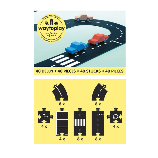 Waytoplay - Flexible Road - King of the Road - 40 pieces