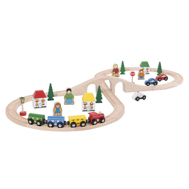 Bigjigs - Train Set - Neutral