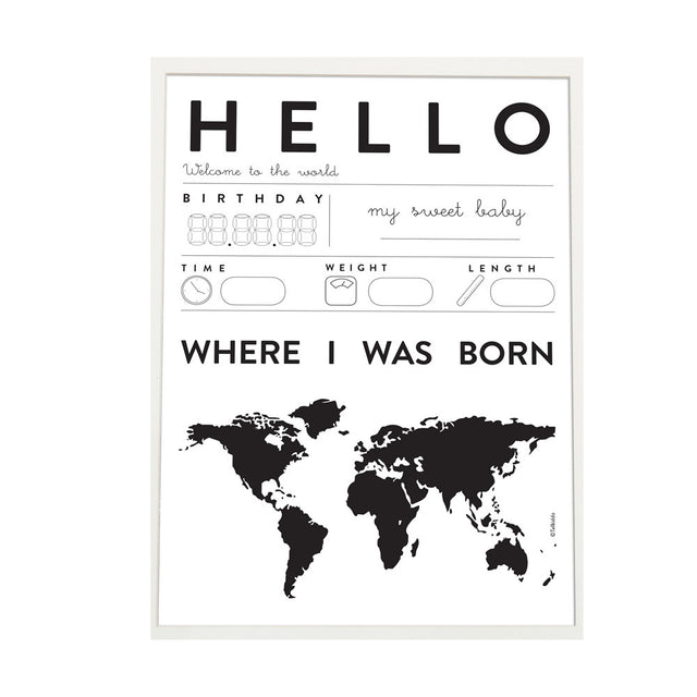 Tellkiddo, Poster Hello Baby, A3